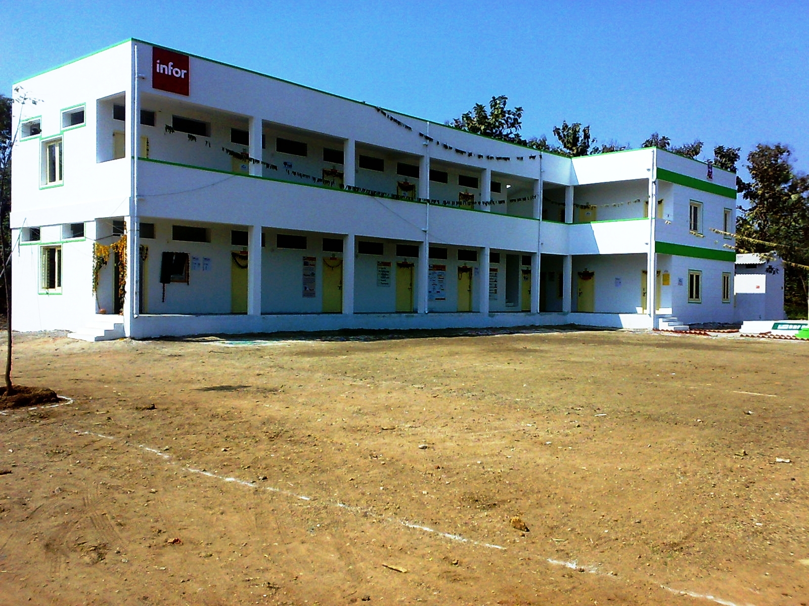 Our schools rural development foundation Indian building photos